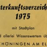 Dokumentenarchiv: Unterkunftsverzeichnis 1975